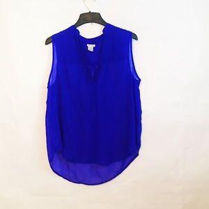 Dizzy Lizzy electric blue sheer sleeveless  TT117